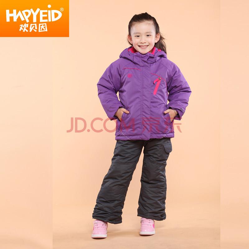 加绒加厚套装 紫色 160cm