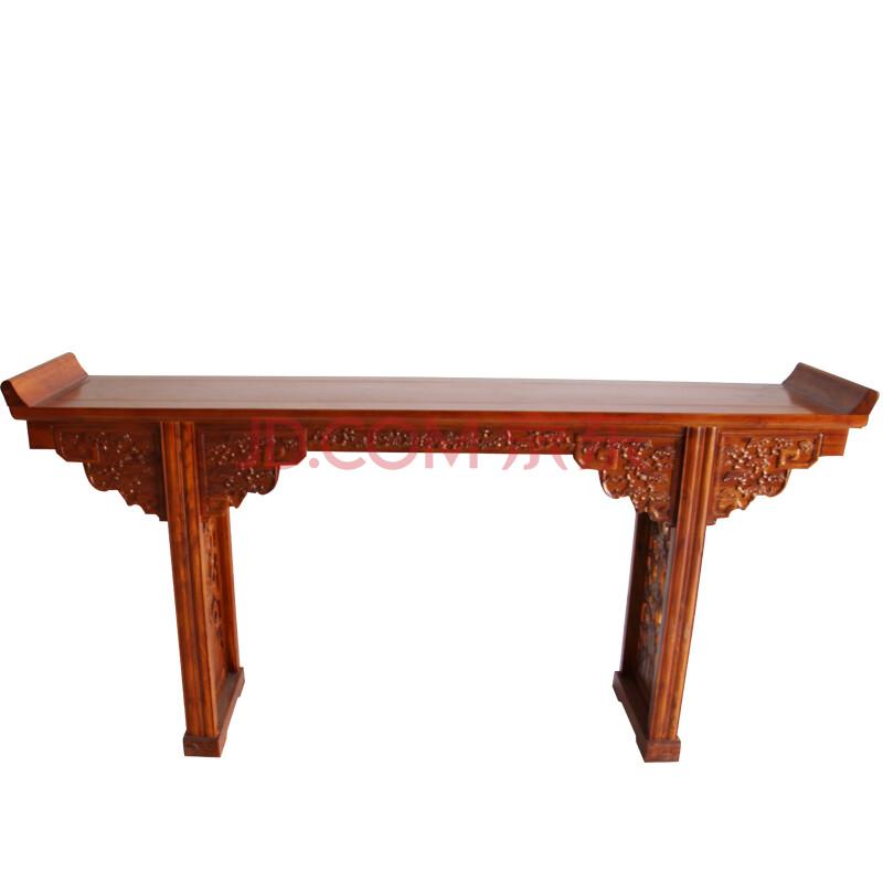 悦顺实木家具仿古古典中式实木家具明清榆木雕花供佛佛龛神台条案贡桌