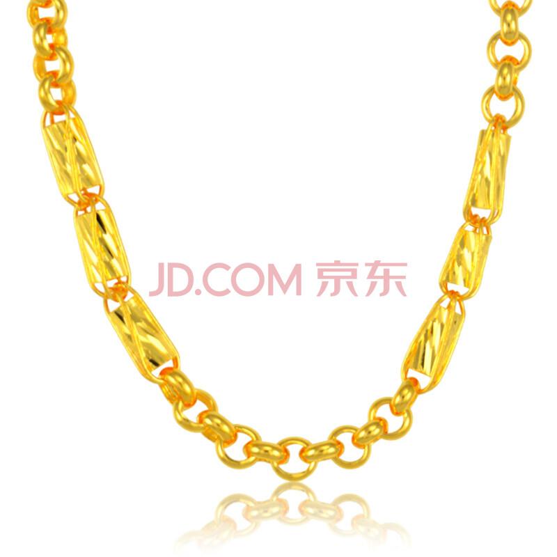 百利金珠宝 24k黄金项链 999千足金项链 珍珠麦穗d款金项链 男款 29.
