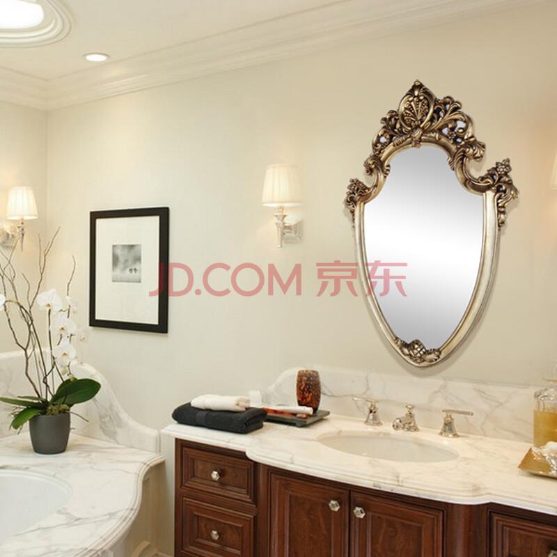 欧式古典浴室镜 复古玄关装饰镜