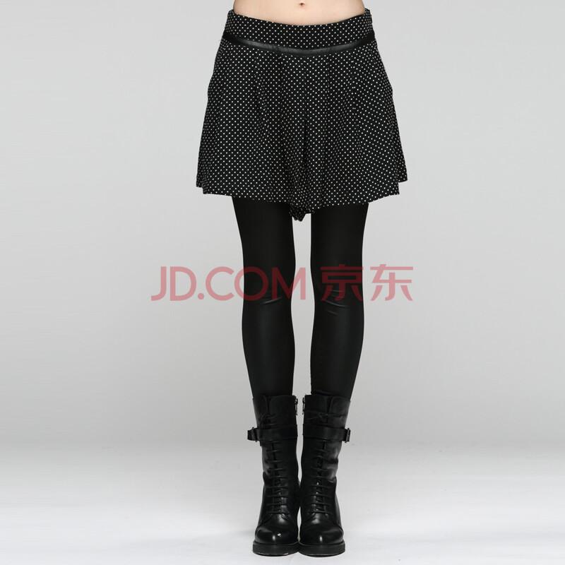 可爱女人冬新款女时尚休闲裤子打底短裤波点裤裙