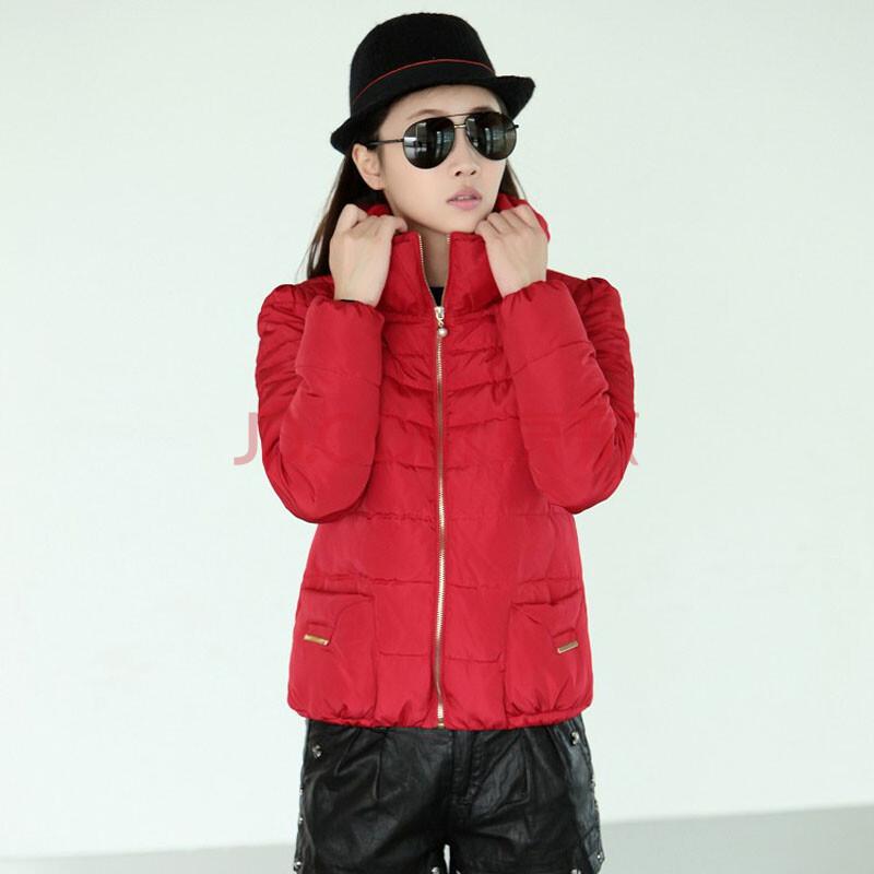 半高领时尚女装加厚棉衣棉服外套ks88图片