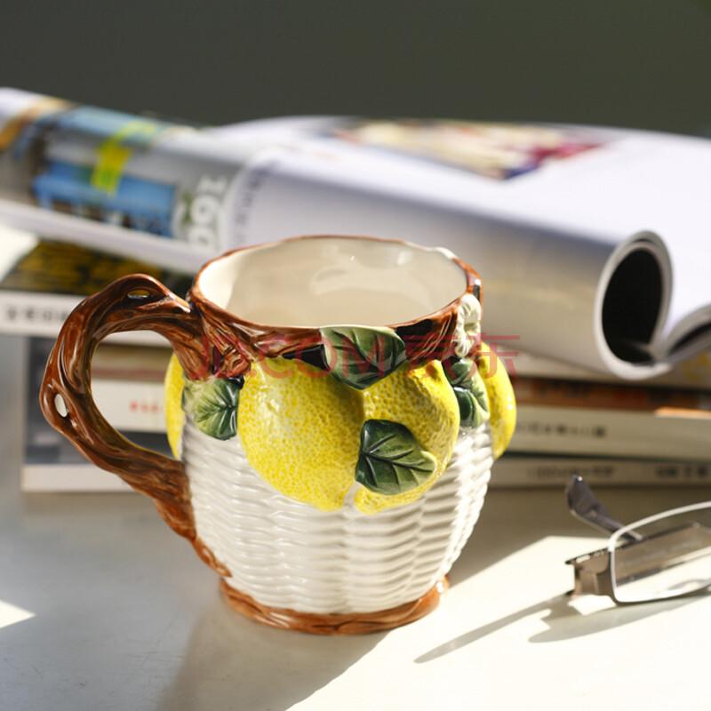 心花怒放sunforever手绘彩瓷茶杯马克杯果汁杯牛奶杯