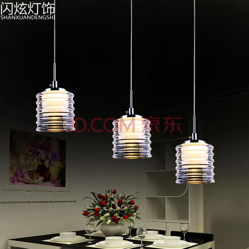 闪炫led餐厅吊灯简约餐厅灯具现代吧台灯饰酒吧吊灯图片