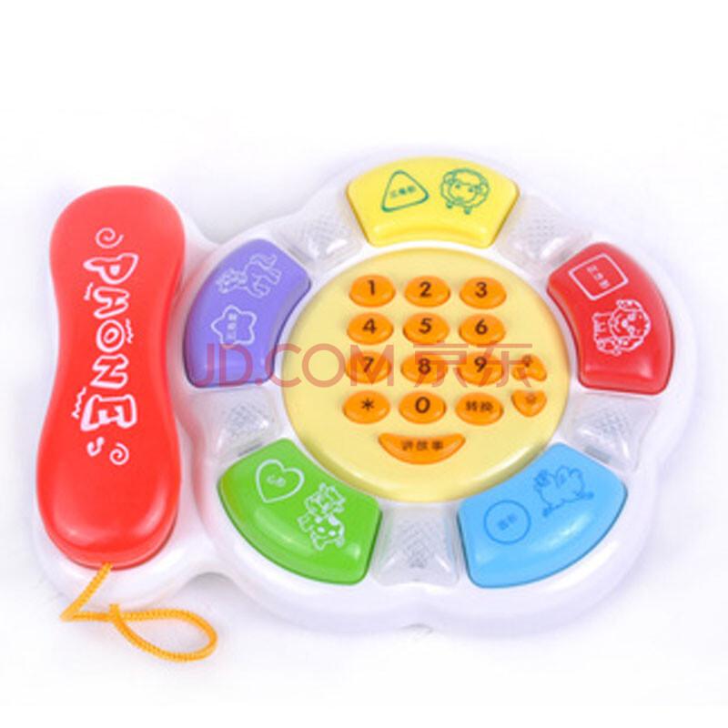 宝丽启蒙系列儿童益智玩具电话会讲故事放音乐早教机