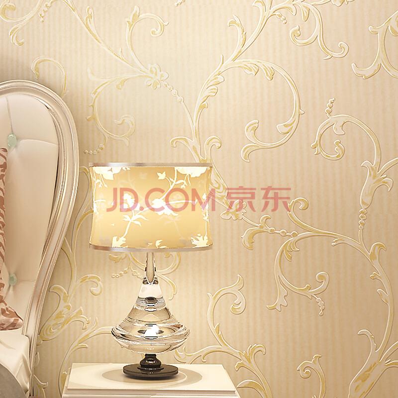 洛可可壁纸 卧室温馨 欧式无纺布墙纸 客厅沙发电视背景墙壁纸 0.图片