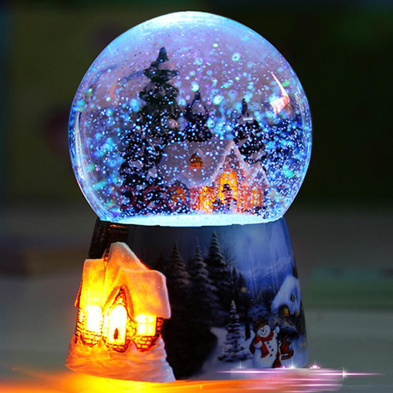 水晶球音乐盒图片_创意精品旋转雪花水晶球音乐盒便宜价格 质量好吗