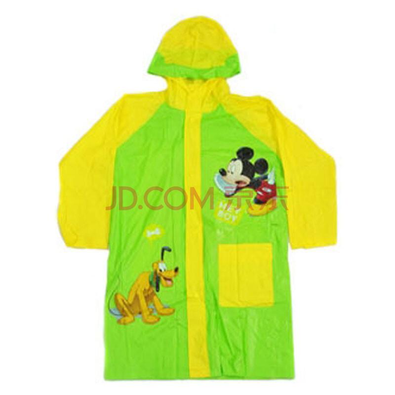 迪士尼儿童雨衣小学生米奇卡通雨披6007