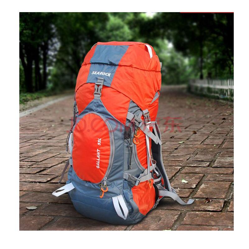55l户外多功能 /双肩包 旅游背包 背包登山包 橘色