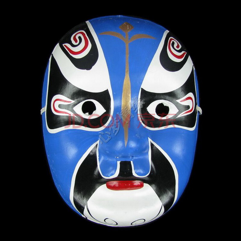 仕彩 手绘面具 纸浆面具 中式面具 变脸专用道具 京剧脸谱面具 盖苏文图片