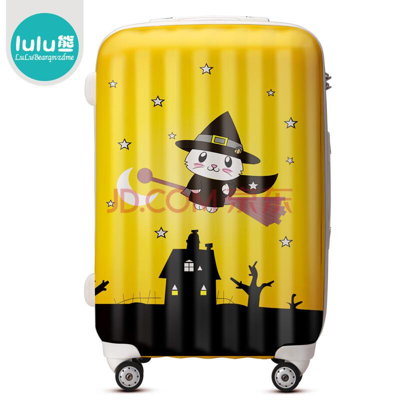 lulu熊 魔法小猫登机旅行箱包女万向飞机轮拉杆箱行李