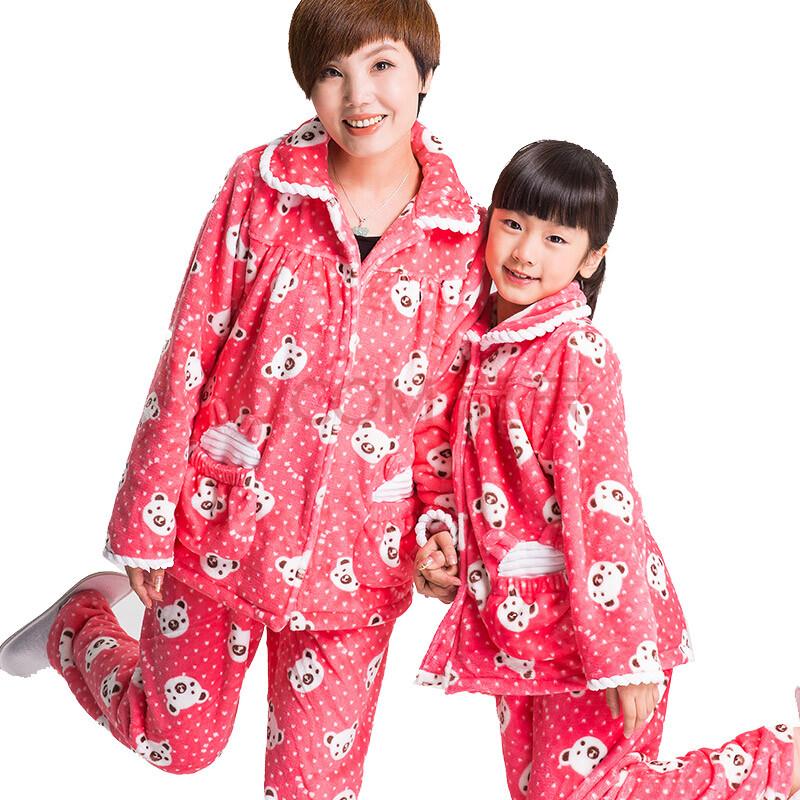 梦瑶岚2014儿童睡衣 儿童珊瑚绒睡衣
