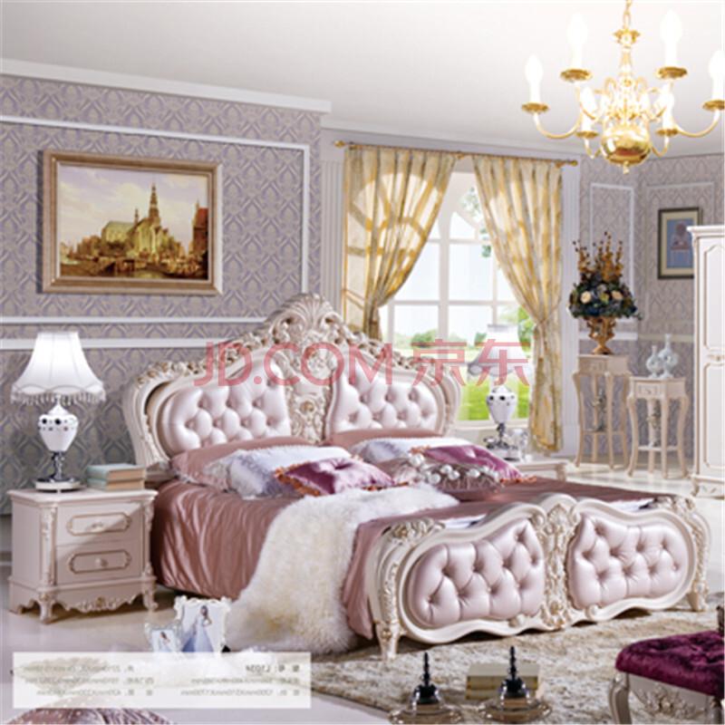 欧式床双人床法式床实木床公主床田园床