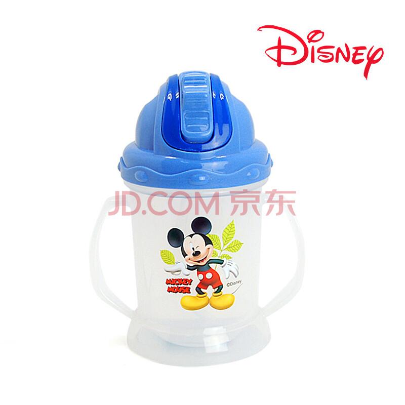 迪士尼儿童吸管水壶正品迪士尼米奇卡通手柄塑料吸管