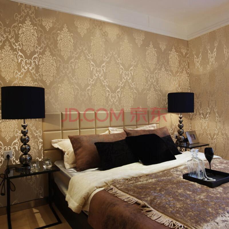 米素墙纸 卧室影视墙珠光电视背景壁纸 欧式无纺布壁纸 锦绣风华 j图片