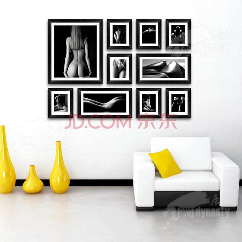 飞雅唐朝装饰画 墙面背景相片墙 有框无框画黑白之间