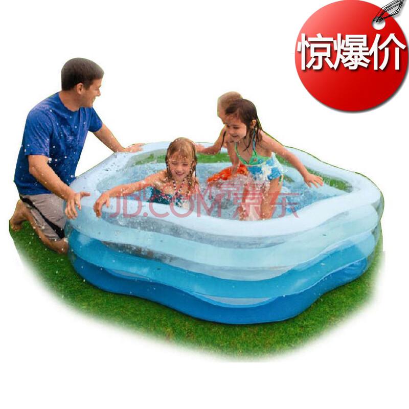 儿童充气游泳池充气