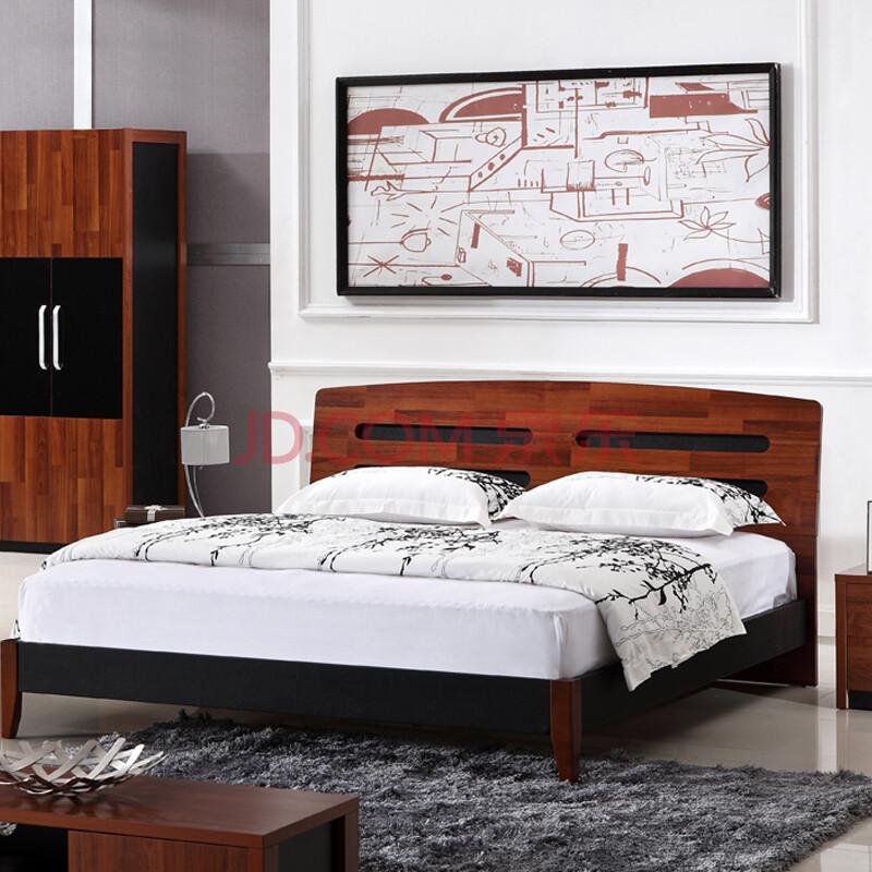 源森木格 中式桃木床 板式家具 实木床 1.5 1.8米 1500mm*2000mm