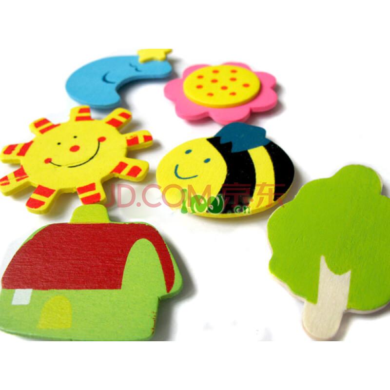 享当当冰箱贴磁性66#彩色教学贴/白板必备12只彩色小动物图片
