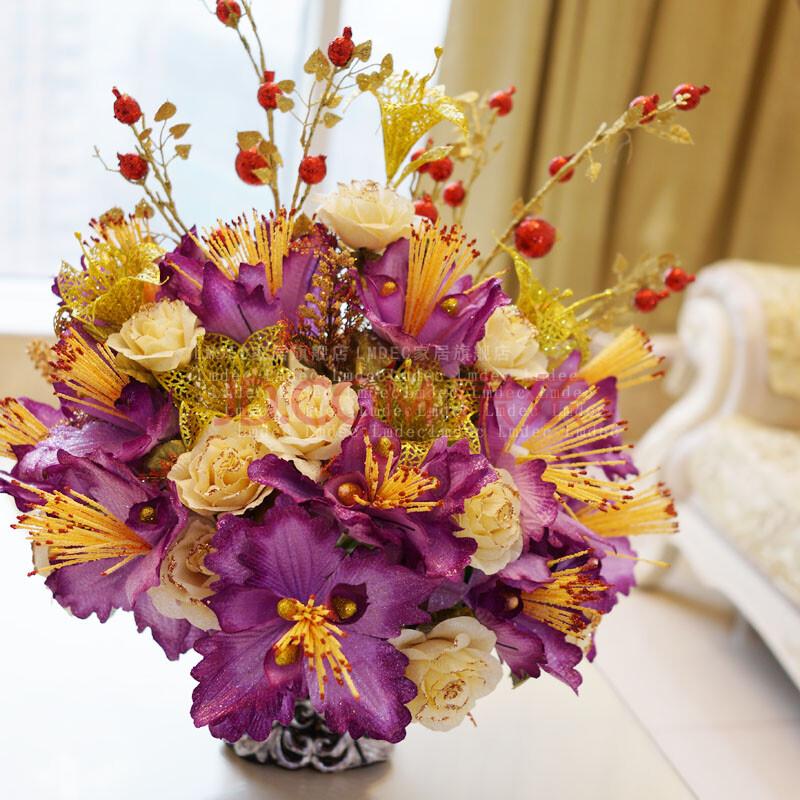 lmdec莎莉牡丹玫瑰插花带花盆图片