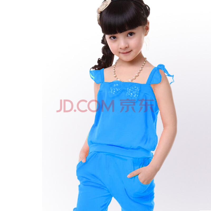 2013童装女童夏季儿童套装童裤装两件套全棉套装