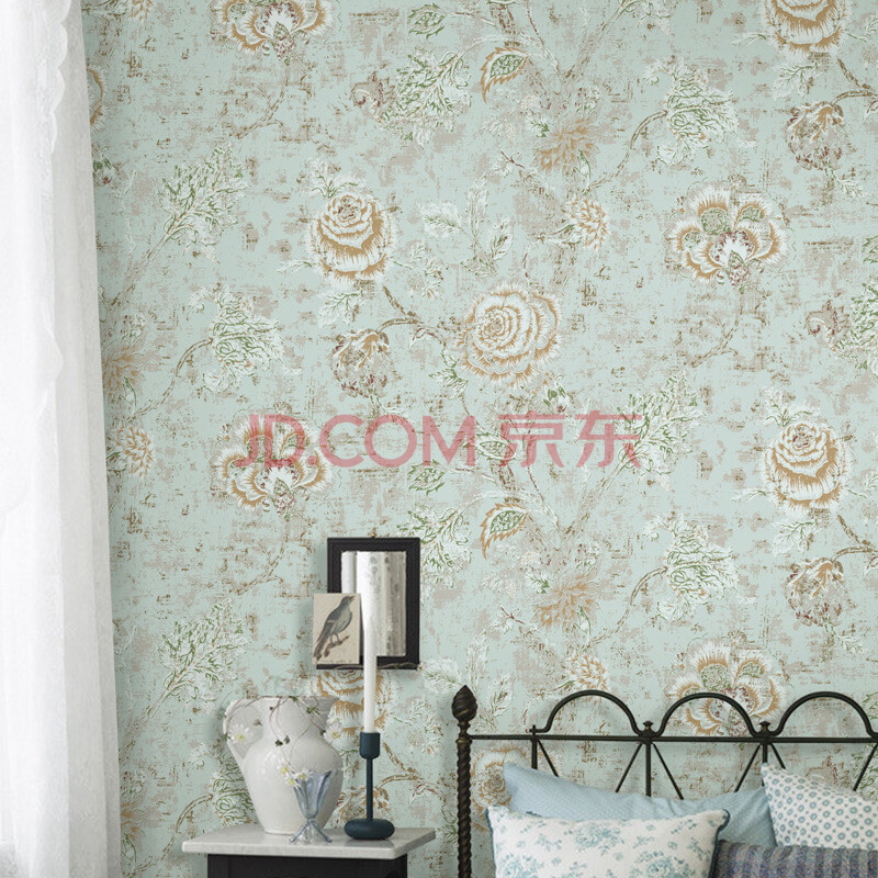 米素壁纸 美式复古 约克风卧室客厅书房墙纸 电视背景墙纸 路西法 ms图片