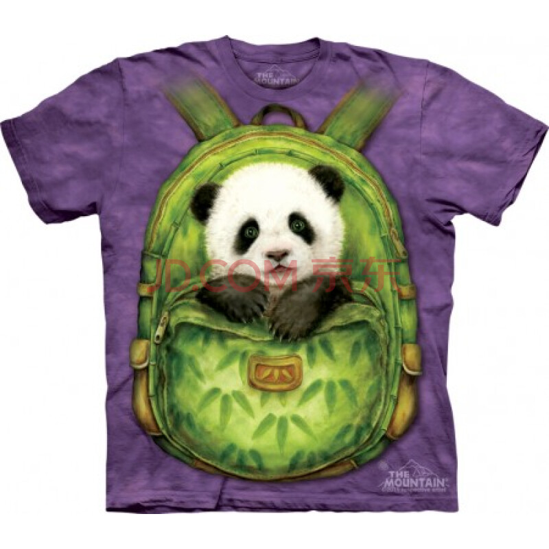 mountain潮男t恤3d立体书包熊猫