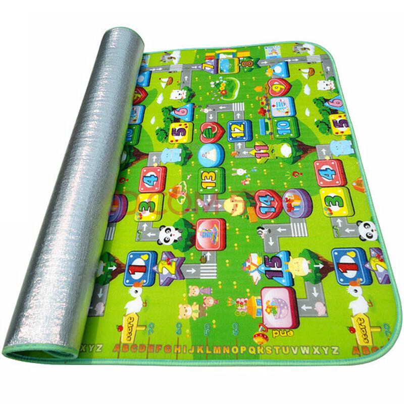 彩田绿色大富翁儿童环保婴儿爬行垫野餐垫地垫游戏毯