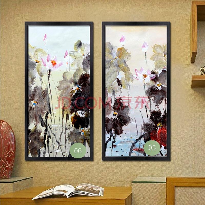 中式手绘油画装饰画