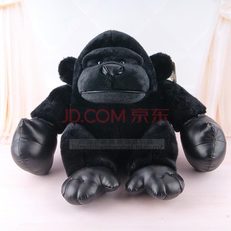 大黑猩猩金刚猴子大明猩黑狒狒熊猫毛绒玩具公仔