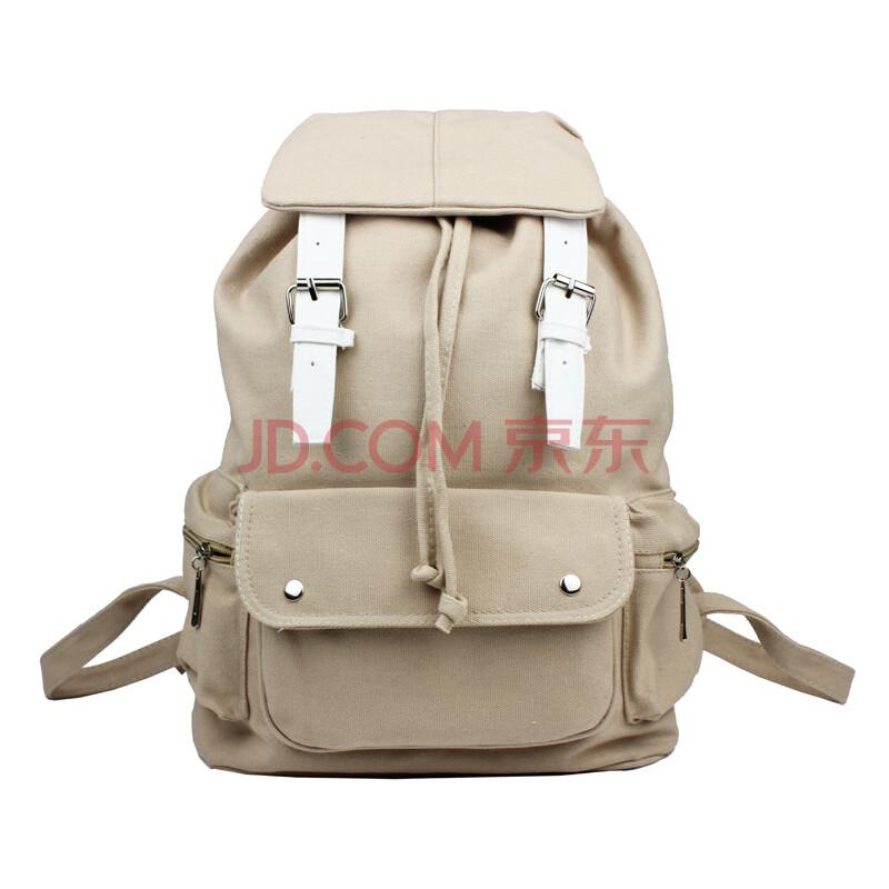 bakmk芭卡玛卡 时尚复古休闲旅行包 韩版书包 纯棉帆布双肩背包 双肩图片