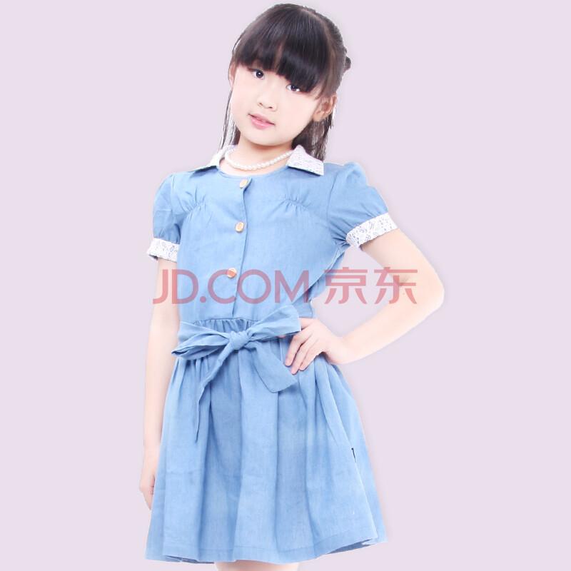 手绘蓝色裙子女生