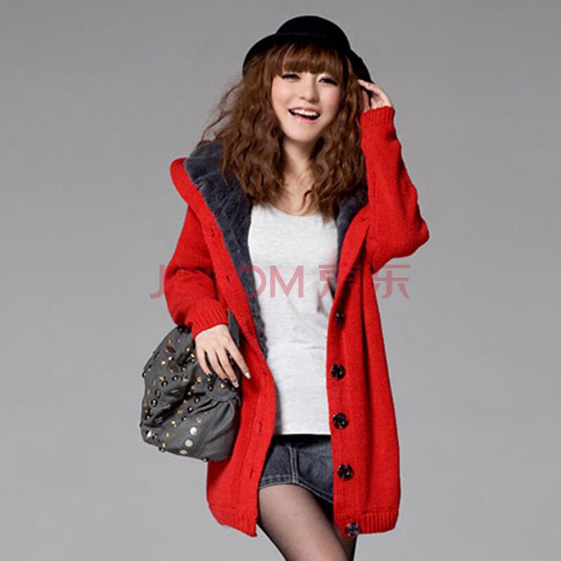 长款红色针织衫搭配-针织衫显胖怎么办-红色针织开衫