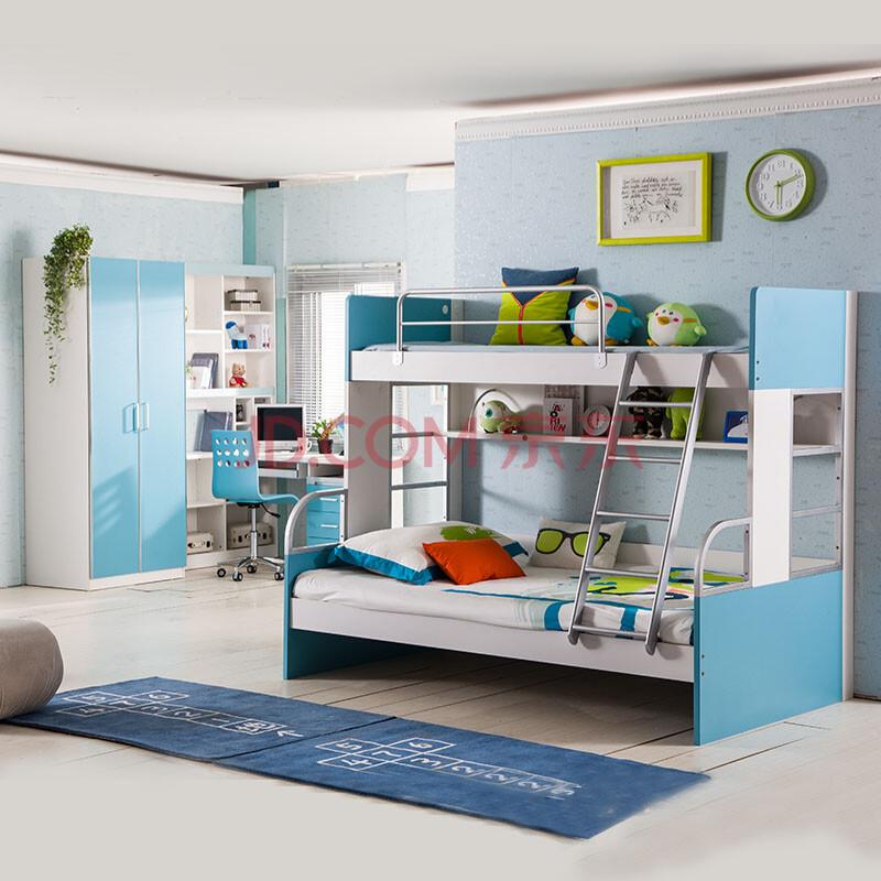 儿童床女孩卧室家具组合高低床子母床男孩