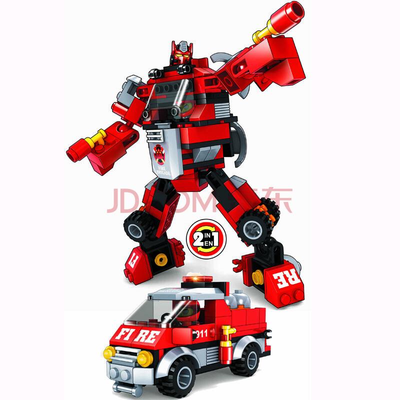 乐高类积木拼装儿童早教益智玩具机器人系列巧乐童ts
