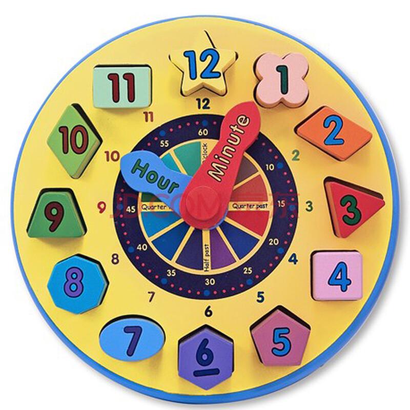 儿童益智木制时钟