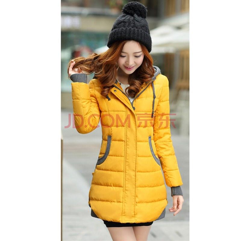 秋冬季时尚新品女装韩版中长款棉衣图片