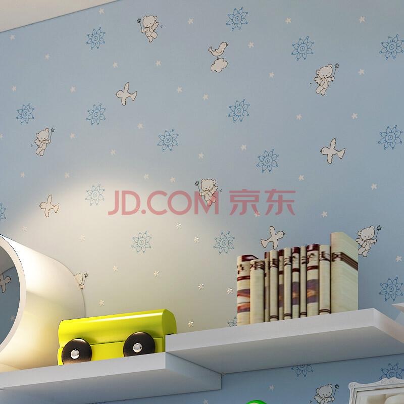 儿童房卧室满铺无纺环保壁纸