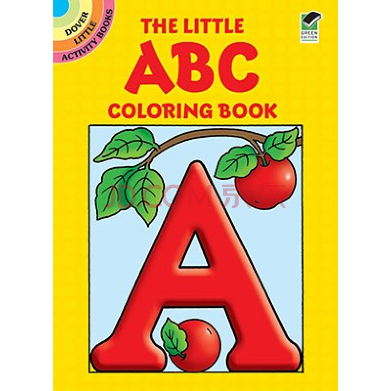 【预订】the little abc coloring book