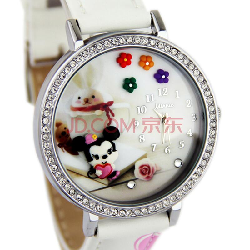 正品迪士尼手表儿童手表男孩手表米奇手表夜光指针不