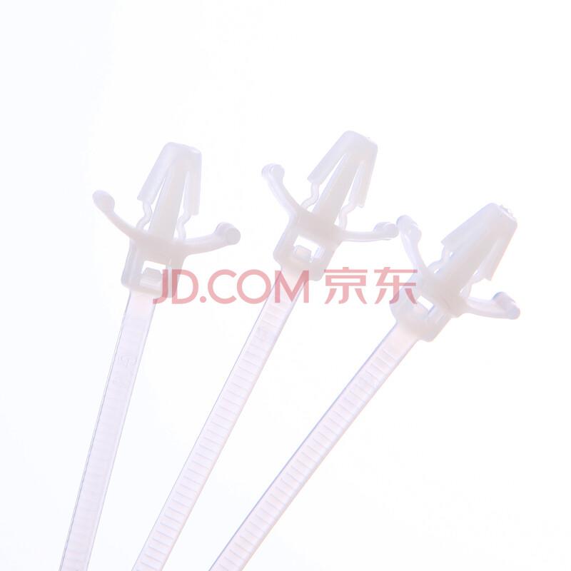 吉耐插销式扎线带5*200 飞机头扎线带100条/包 白色