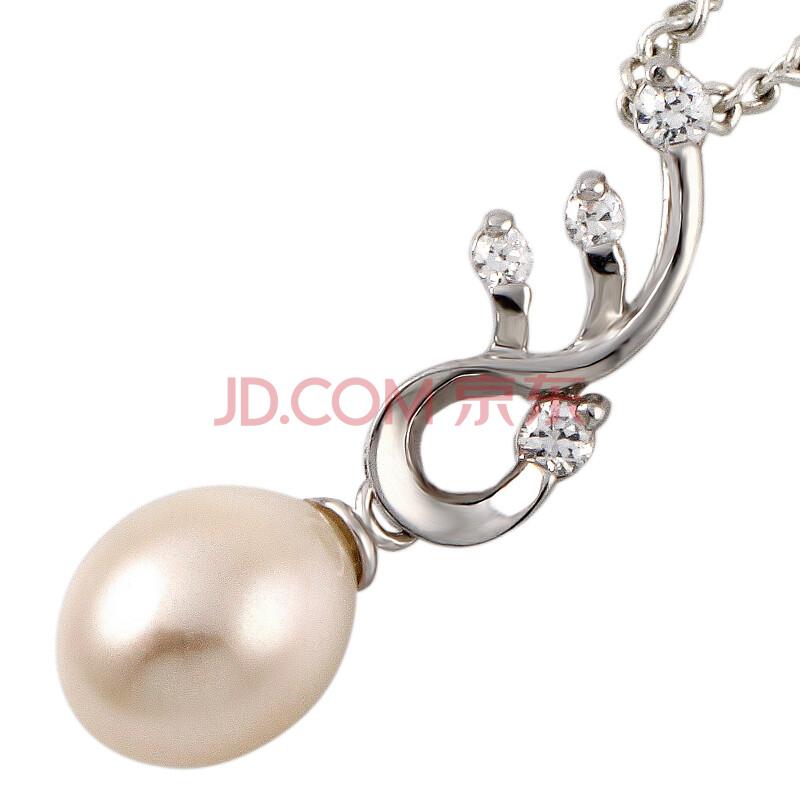 流行色珍珠项链吊坠天使翼