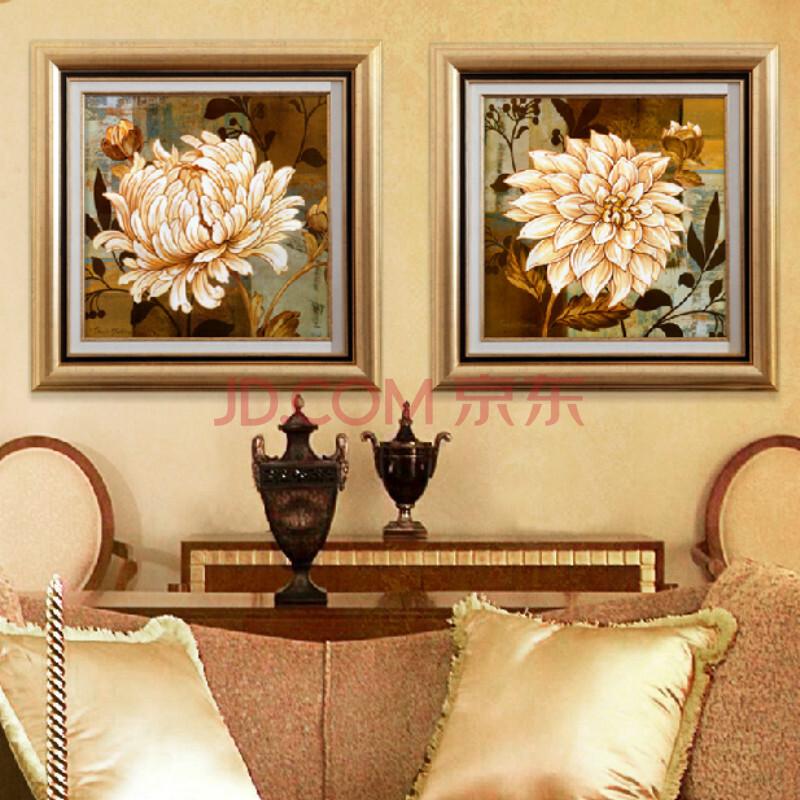 美画欧式装饰画花卉客厅书房卧室壁画餐厅挂画酒店画