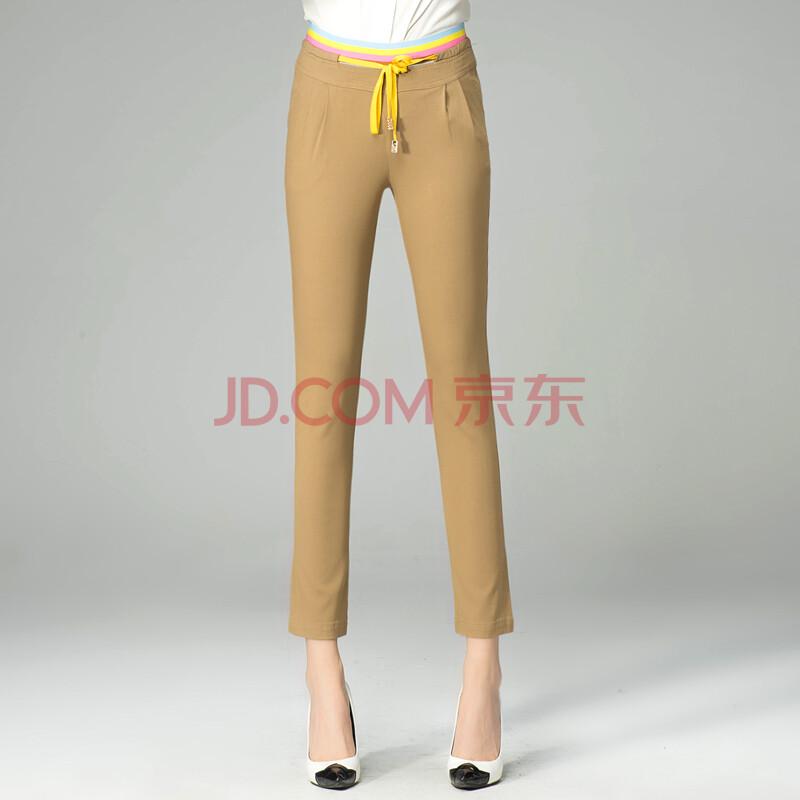【月亮人】月亮人正品女裤2014新款春装糖果色九分裤
