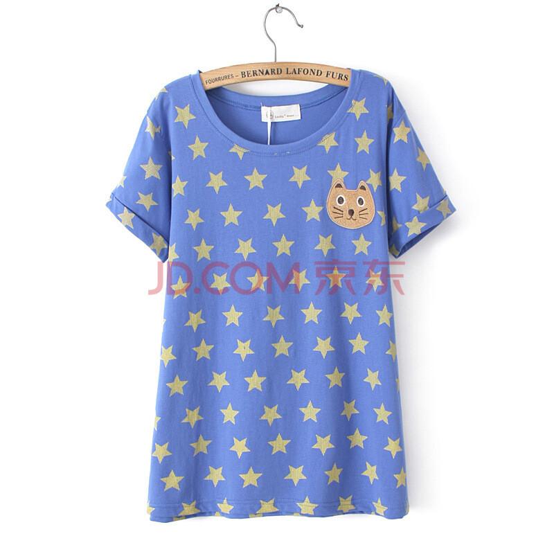 图案短袖小熊t恤衫
