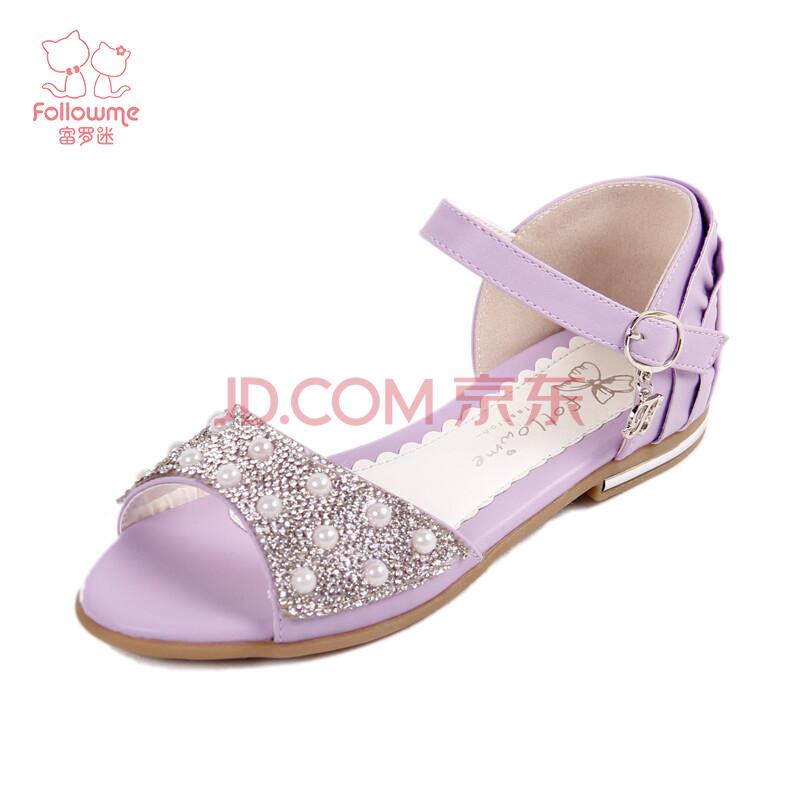 富罗迷2014新款女童凉鞋公主鞋儿童鞋韩版童鞋女大童