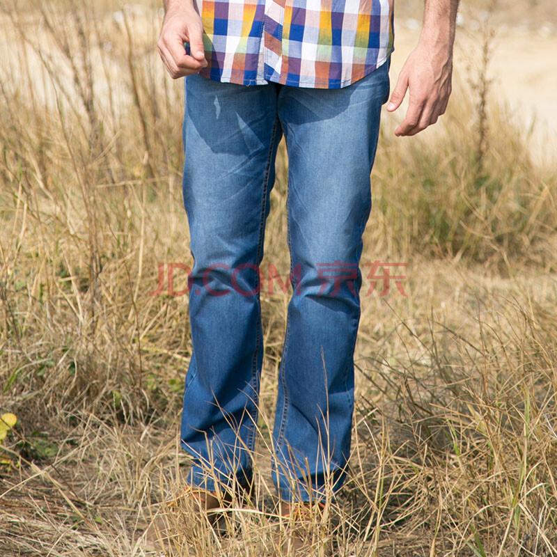 新品上市 JEEPMS 吉普猛士牛仔裤2014春装时尚男裤休闲长裤直筒裤修身水洗裤牛仔蓝
