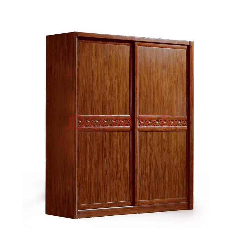 里外 乌金木衣柜 中式现代乌金木移门两门衣柜 8316 咖啡