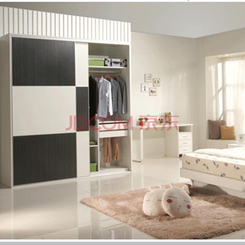 【蜗爱】现代简约板式黑白家具卧房衣柜配两泉州酒店家具图片
