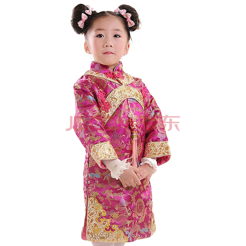童装女童唐装长袖